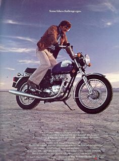 Retro cool motorcycle adverts ~ Return of the Cafe Racers