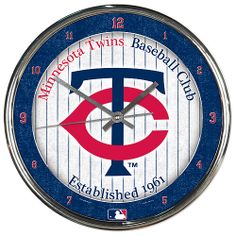 Minnesota Twins Chrome Clock - MLB.com Shop