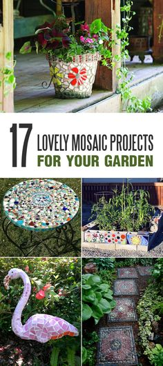 Want to beautify your garden? Make something with mosaic!