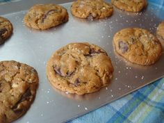 Salted PB Oatmeal Chocolate Chip Cookies
