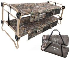 When sleeping space is at a premium, the new Realtree bunkable cot is your answer. The Cam-O-Bunk™ XL with Realtree Xtra® provides you with a supportive and comfortable sleep wherever your adventures may take you.  #Realtreecamo #Realtreegear