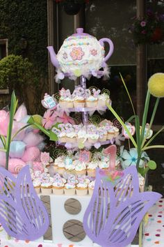 Alice in Wonderland Tea Party Cake-What's her theme this year? www.rareoccasionsinc.com