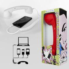 Ultra praktisch und im coolen Retro-Style: Mit dem Telefonhörer für Handys kannst Du Deinen Telefonkomfort erheblich verbessern!