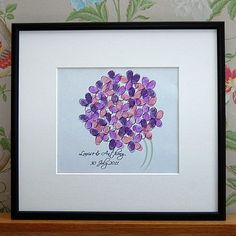 Personalised Fingerprint Bouquet