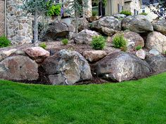 Rock Retaining Wall With Stairs