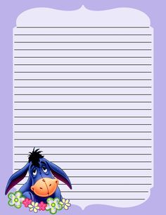 Eeyore Stationery .... free to use and free to share for personal use, <3