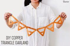DIY: Copper Triangle Garland