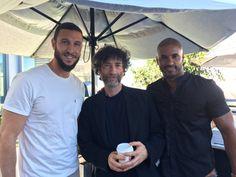 Pablo Schreiber, author Neil Gaiman and Ricky Whittle...American gods