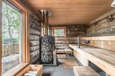 in Finland log cabin in Finland cabin in Finland log cabin in Finland Imagen Cozy Sauna Shower Combo Decorating Ideas Ikea Bathroom Metod Inspiring Wooden Houses Design Ideas Eco Friendly 07 House design, Architecture house, Home design decor, Barn