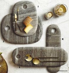 Roost Curve Marble Serving Boards