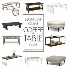 Everyone needs a place to set a drink! Whether you call it a coffee table, cocktail table, or even a hot chocolate table :-)  it is an essential piece of furniture for every well-designed living room. If the room has a couch in it, then 99% of the time a coffee table is needed. But choosing the right table, especially if you are on a tight budget | we need one of these