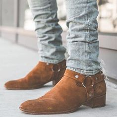 Mens Suede Boots, Suede Ankle Boots, Ankle Booties, Suede Leather, Leather Boots, Men Boots, Soft Leather, Mens Ankle Cowboy Boots, Moda Men