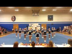 the second half time cheer that we learned Cheer Pyramids, Cool Cheer Stunts, Cheerleading Videos, Cheer Routines, Varsity Cheer, High School Cheer, Allen Park, Competition, Cheer Stuff