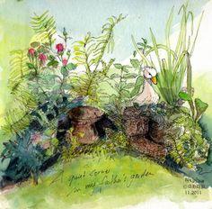 A Quiet Corner in my Father's Garden by Andrea Hupke de Palacio