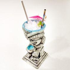 Blue Lava Idol Bastard Tiki Mugs & Titanium 11.5-inch Tiki Mug Straws are both in stock at KahunaKevin.com, they make an awesome set!  #kahunakevin #smallbusiness #books #shopping #giftideas #gifts #madeinusa #tiki #tikimugs #mugs #presents #drinkware #cocktailbooks #cocktails #drinks #bartending #barware #coolgifts #gifsforhim #straws #ceramic #usbg #tikibar #homebar #bar #craftcocktails #tikiasfuck #summer #tikiparty #instacool