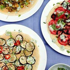Chickpea Flatbreads with Summer Vegetables & Raita