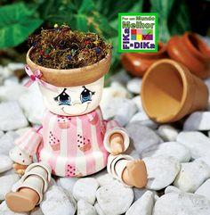 Bonecos para decorar jardins ou varandas