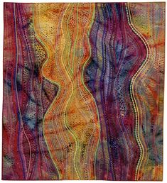 This is beyond craft -- art quilting at its best from Carol Ann Waugh.