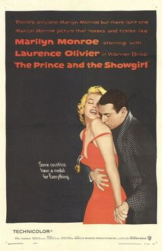"MP124. ""The Prince and the Showgirl"" American Movie Poster by Bill Gold / Photo: Richard Avedon (Laurence Olivier 1957) / #Movieposter"