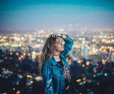 Beautiful Portrait Photography by Derrick Freske Inspiration Photoshoot, Portrait Inspiration, Summer Photoshoot Ideas, Summer Photography, Girl Photography, Photography Ideas, Outdoor Portrait, Night Portrait, Bokeh Portrait