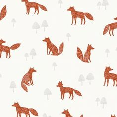 Bethan Janine Wildwood Fox in Cream Bethan Janine Wildwood Fox in Cream Dashwood Studio fabric for patchwork quilting and dressmaking from Eclectic Maker : Patchwork, quilting and dressmaking fabric, patterns, habberdashery and notions from Eclectic Maker Motifs Textiles, Textile Patterns, Textile Design, Print Patterns, Fuchs Illustration, Pattern Illustration, Fox Pattern, Pattern Art, Pattern Fabric