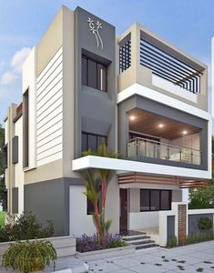 Pictures Of Exterior Modern House Colors. 20 Pictures Of Exterior Modern House Colors. 50 House Colors to Convince You to Paint Yours 3 Storey House Design, Duplex House Design, House Front Design, Small House Design, Modern House Colors, Best Modern House Design, Modern House Plans, Dream House Exterior, Exterior House Colors