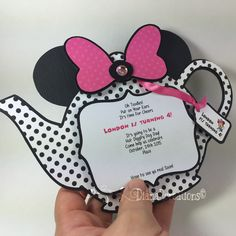 Minnie Mouse Tea Party Birthday Invitations!!  Cute, cute, cute!!!   #dianarcreations #invitation #invitations #minniemouse #minniemouseinvitations #handmade #handmadeinvitations #handmadeinvitation #minniemouseinvitation #minniemouseinvites #teapartytheme #teaparty #teapot #invitacionespersonalizadas  #invites #invite #papercraft #papergoods #minniemouseteaparty #minniemouseteapartyinvitations
