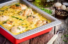 Chicken Dijonnaise Recipe: How to Make This French Classic (Ooooo La La! Cod Fish Recipes, Seafood Recipes, Cooking Recipes, Entree Recipes, Turkey Recipes, Keto Recipes, National Fried Chicken Day, Oven Fried Chicken, Kitchens