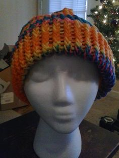 Tropical Sunset Knit Beanie by dreahsdesigns on Etsy, $15.00