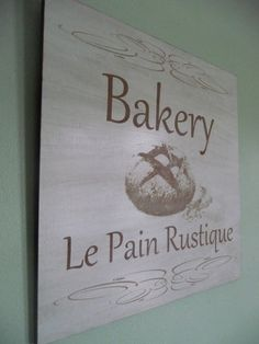 Rustic Home Sign Bakery Distressed Wall Sign Chabby Chic by Crafu