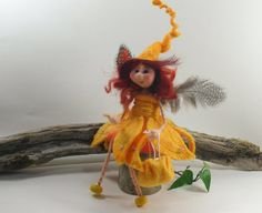 unique one off Irish Felt Fairy Doll  Fairy Doll by IrishFeltFairy