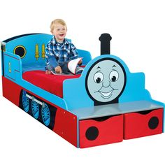 #ThomasTheTrain toddler bed with storage