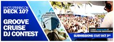Think you got what it takes to DJ on the Worlds Largest Floating Dance Music Festival?! Starting October 3rd, you'll have the chance to enter our Who's Spinning Deck 10 Groove Cruise DJ Contest! Located under the 'DJ CONTEST' tab on our fanpage, we're offering YOU the gig of a lifetime, plus a cruise & airfare for 2 AND more!! Looking forward to hearing what you guys got..