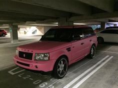 My new ride!  Meh  @br0mo  #pink #phoenix #arizona #rangerover #rangeroversport #fail #meh #uglyaf #rover by jackinphx