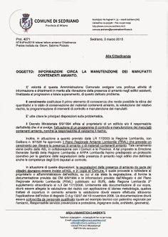 Sinistra di Sedriano: Altra vittoria di SdS: amianto edifici privati !
