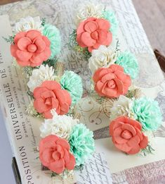 coral mint green wedding - Google Search