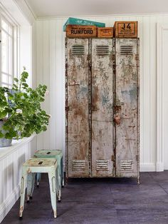 Swoon, those industrial lockers.