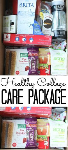 My Projects from Country Chic Cottage Send a healthy college care package to your loved one this fal College Care Package For Girls, College Care Packages, Country Chic Cottage, College Gifts, Baby Care, Healthy Habits, Encouragement, How Are You Feeling, Packaging