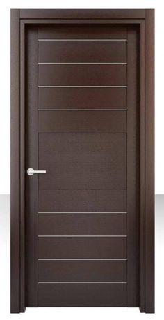 New flush door design modern ideas Bedroom Door Design, Door Design Interior, Interior Barn Doors, Interior Columns, Wooden Glass Door, Wooden Main Door Design, Wood Front Doors, The Doors, Panel Doors