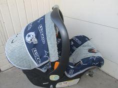 Silver Dallas Cowboys Baby Car Seat Cover. $70.00, via Etsy.