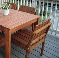 DIY These simple chairs stack! And match our Simple Modern Outdoor Collection. Build a few to match the tables, or just extra seating for outdoors. $20 each. FREE DIY Plans from Ana-White.com Matching TABLE on Ana's site, as well!