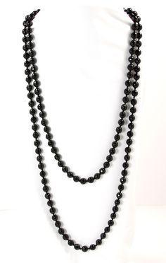 Necklace - Beaded Black Onyx 56