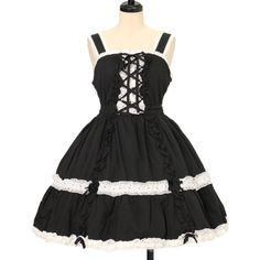♡ Angelic pretty ♡ Black × white jumper skirt http://www.wunderwelt.jp/products/detail12992.html ☆ ·.. · ° ☆ How to order ☆ ·.. · ° ☆ http://www.wunderwelt.jp/user_data/shoppingguide-eng ☆ ·.. · ☆ Japanese Vintage Lolita clothing shop Wunderwelt ☆ ·.. · ☆