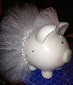 Here comes the Bride Large piggy bank by Thislilpiggybank on Etsy, $45.00