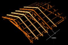 Resultado de imagem para distancia entre tesouras telha concreto Trailer Casa, 3d Modelle, Hip Roof, Modern Pools, Roof Structure, House Plans, Brick, Engineering, Ceiling