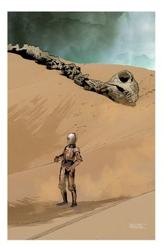 The Dune Sea by CartoonCaveman. #StarWars #Art #gosstudio .★ We recommend Gift Shop: http://gosstudio.com
