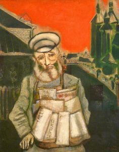 Marc Chagall - Newspaper Seller, 1914