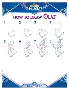 Check out these free printable Disney Frozen Activity Pages. Have fun coloring with Anna and Elsa, and learn how to draw Olaf! Disney Olaf, Disney Art, Disney Frozen, Disney On Ice, Frozen Painting, Painting For Kids, Frozen Canvas, Olaf Drawing, Disney Canvas Paintings