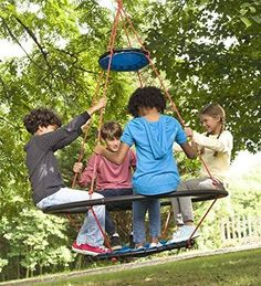 Vortex Spinning Ring Swing for Multiple Kids Outdoor Play Equipment for Tree or Stand 50 diam x 68 H