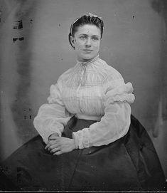 Circa 1863, via US National Archives. That sheer blouse!!